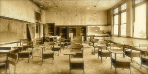 old broken school room